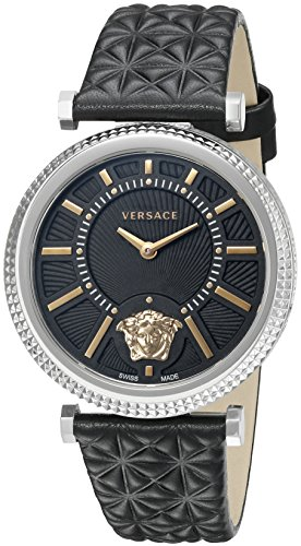 Versace Women's VQG020015 V-HELIX Analog Display Quartz Black Watch