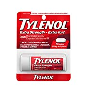 Tylenol Extra Strength Travel Size For Pain Relief, Headache Relief, and Reducing Fever, 500 mg Acetaminophen 10 eZTABS
