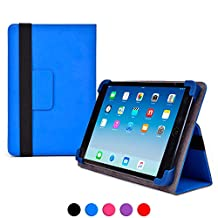 Samsung Galaxy Tab 7.0 Plus (P6200/P6210) case, COOPER INFINITE ELITE Protective Rugged Shockproof Carrying Universal Portfolio Case Cover Folio Holder with Built-in Stand (Blue)