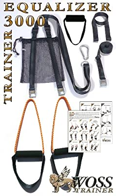 WOSS 3000 Equalizer Suspension Trainer, Black, Made in USA by WOSS Enterprises