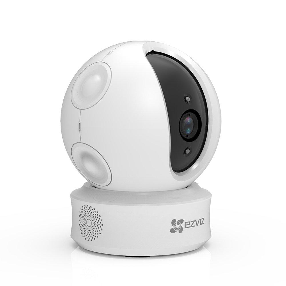 EZVIZ C6B 960p Wi-Fi Dô me de surveillance sans fil Camé ra de Sé curité -Vision Nocturne- PTZ Pan - Tilt- Suivi de Mouvement Intelligent et Localisation sonore- Mode vie Privé e- Audio Bidirectionnel