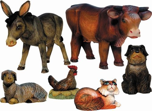 Derevo 6 Piece Nativity Animals Set ()