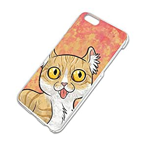 Cat with Tongue Hanging Out Slim Fit Hard Case Fits Apple iPhone 6