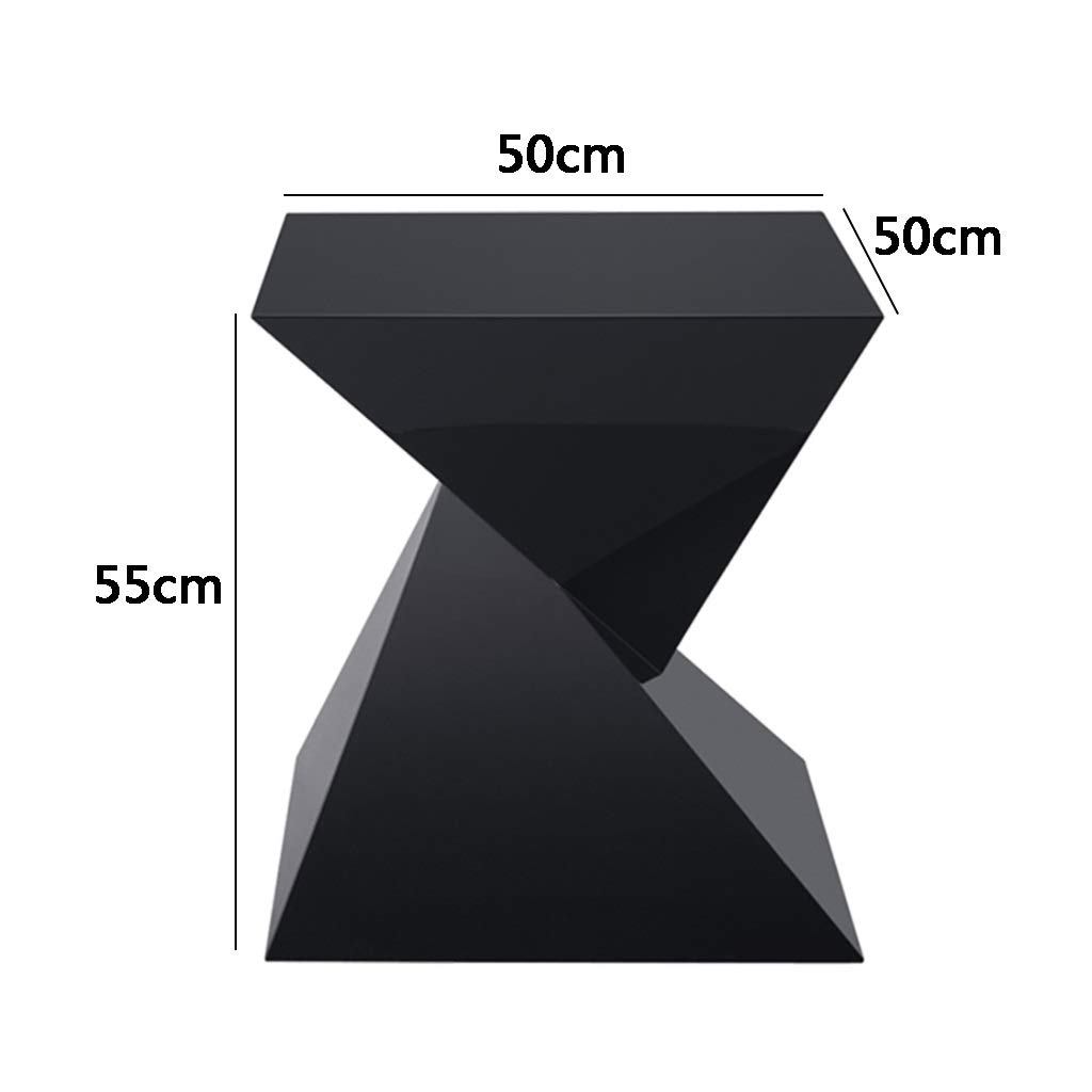 Color : Black, Size : 50 * 50 * 55cm Coffee Tables Coffee Table Home Living Room Sofa Side Table Black Tea Table Balcony Small Square Table Gift