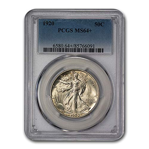 1920 Walking Liberty Half Dollar MS-64+ PCGS Half Dollar MS-64 PCGS
