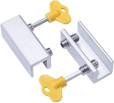 Cerraduras ajustables para ventanas correderas, cerradura de seguridad con marco de puerta de aleación de aluminio con llaves y juntas protectoras para bebés, niños, hogar, seguridad para mascotas: Amazon.es: Bricolaje y herramientas