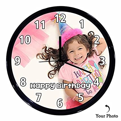 Huppme Personalized Happy Birthday Wall Clock Gifts For Kids Her