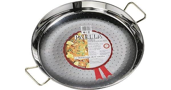Amazon.com: La Ideal - Paellera de acero inoxidable, plata ...