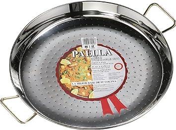 La Ideal - Paellera (, Acero Inoxidable, Color Plateado, 1 Pieza ...