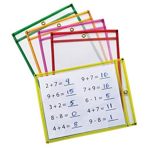 - Mind Sparks Dry Erase Pockets (10 Piece), Neon, 9 x 12