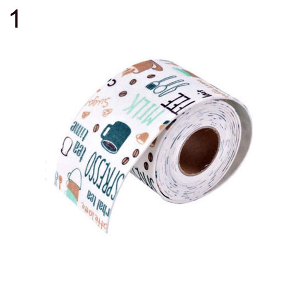 Astrryfarion Abtropfkorb Abtropfkorb Waschschüssel Wasserdicht selbstklebend Küche Fliesensticker Bad WC Waschbecken Rand Dekor blau