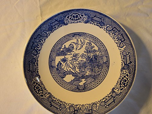 - Vintage Antique Blue Willow Plate