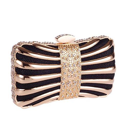 Bag Color Women's Black Bag Crossbody Banquet KERVINFENDRIYUN Shoulder Black Evening Clutch Handbag Purse zavAq