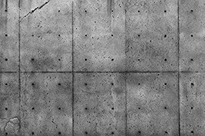 """13.5-Feet wide by 9-Feet high. Prepasted robust wallpaper mural from a high res photo of:Concrete Wall. Looks real. Easy to install If U do as in our video. 162"""" W by 108"""" H"""