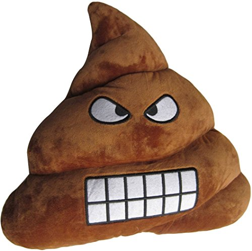 [Emoji Pillow Prime Stuffed Cushion, LeBeila Poop Emoji Pillow - Poo Shaped Happy Naughty Laughing Face Doll Toy Big 32cm (One size,] (Devil Girl Outfit)