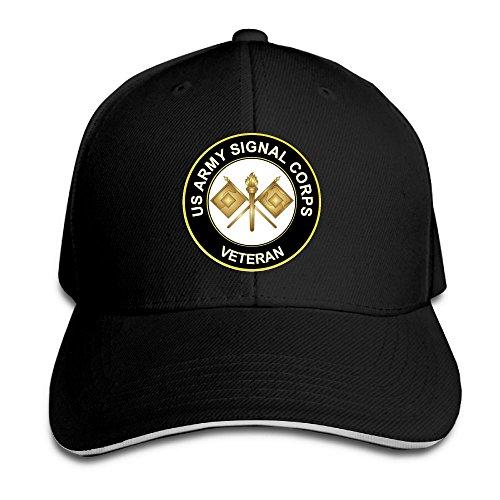 - US Army Veteran Signal Corps Adjustable Baseball Hat Dad Hats Trucker Hat Sandwich Visor Cap
