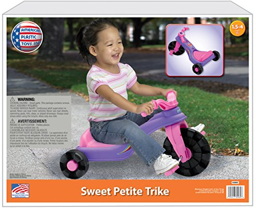 American Plastic Toy Sweet Petite Trike Plastic Tricycle