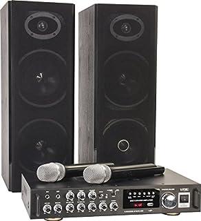 Star-Mitte Equipo de Karaoke Altavoces PA con micrófonos ...