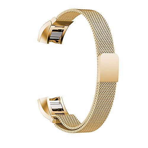 Price comparison product image Element Works Milanese Loop Band for Fitbit Alta,  Gold