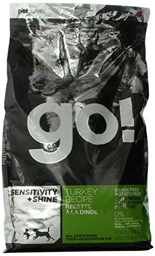 PETCUREAN 152048 Go Sensitivity and Shine Grain Free Turkey Dry for Dog, 12-Pound