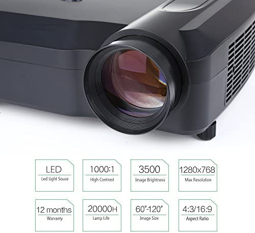 Crenova XPE650 Proyector HD 3200 Lúmenes Resolución 1280*768 ...