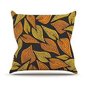 """Kess InHouse Pom Graphic Design """"Autumn II"""" Outdoor Throw Pillow, 18 by 18-Inch"""