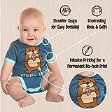 Lazy One Cute Unisex Baby Bodysuit, Cute Animal