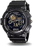 Casio Men's Solar G9300GB-1 Black Resin Quartz Watch with Black Dial