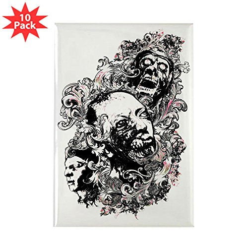 Zombie Rectangle Magnet - Rectangle Magnet (10 Pack) Zombie Apocalypse