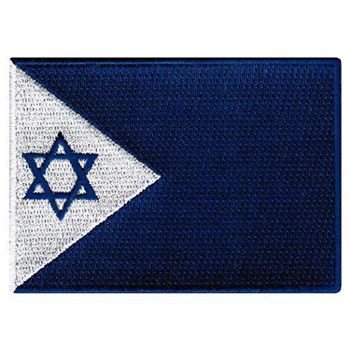 - Israel Navy Jack Patch Israeli Military Flag Embroidered Iron-On Emblem