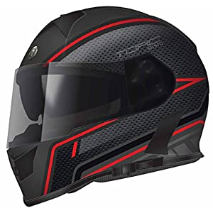 Torc T14B Blinc Loaded Scramble Mako Full Face Helmet (Flat Black with Graphic, Large)