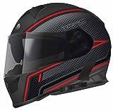 Torc T14B Blinc Loaded Scramble Mako Full Face Helmet (Flat Black with Graphic, XX-Large)