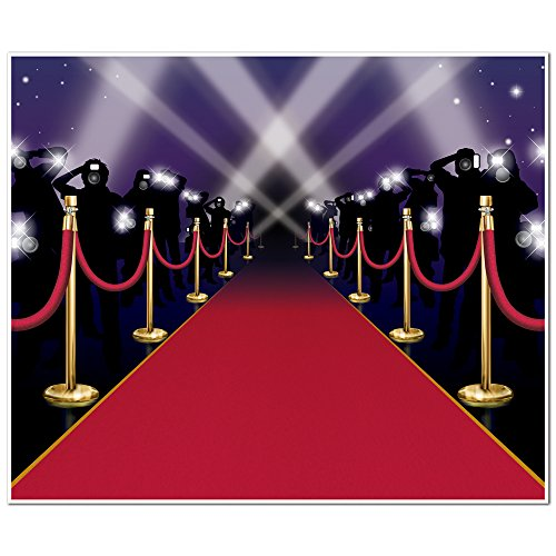 Red Carpet Insta-Mural Party Accessory (1 count) (1/Pkg) -