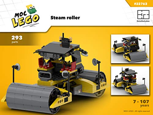 Steam Roller (Instruction Only): MOC LEGO por Bryan Paquette
