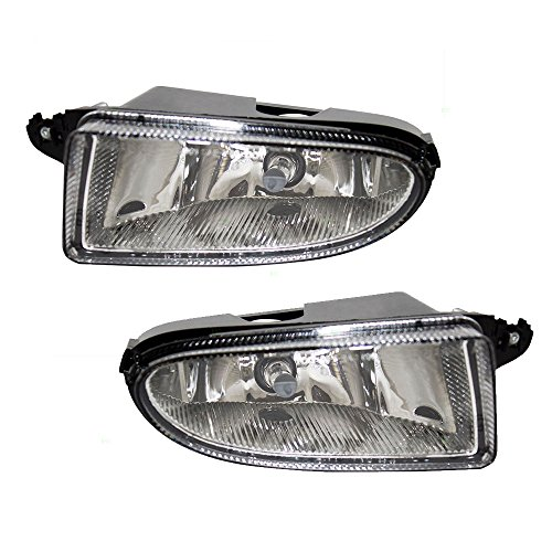 (Driver and Passenger Fog Lights Lamps Replacement for Chrysler 5288797AD 5288796AD)