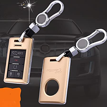 Remote Fold Key Holder Fob Case Cover for Cadillac XTS CTS SLS ATS SRX Red