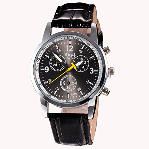 Boyiya Men's Watch, Luxury Fashion Crocodile Faux Leather Band, Men's Analog Watch Wrist Watches - Cat 24h Sale For