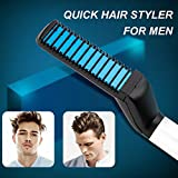 Electric Hair Comb for Men,Womdee Curly Hair Straightening Comb,Man's Style Magic Massage Comb,Hair