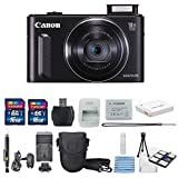 Canon PowerShot SX610 HS 20.2MP Digital Camera (Black) With USA Warranty + Total of 32 GB & AC/DC Turbo Travel Charger + Extra Battery (NB-6L) + Mini Tripod Along With a Deluxe Cleaning Kit