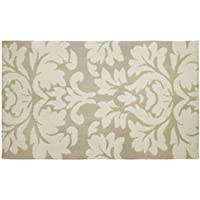 Laura Ashley Kent Plush Knit Microfiber 27 x 45 Accent Rug, Taupe