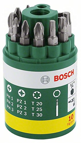 inklusive Torx 10-teilig Bosch Schrauberbit-Set