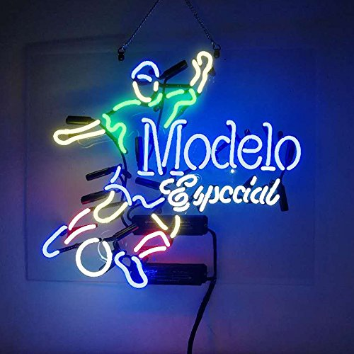 Christmas Gift Neon Signs Modelo Especial Soccer Real Glass Beer Bar Store Party Decor 19x15 by Best Music Posters