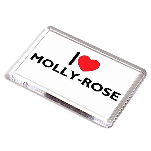 Imán para Nevera, diseño con Texto en inglés I Love Molly-Rose ...