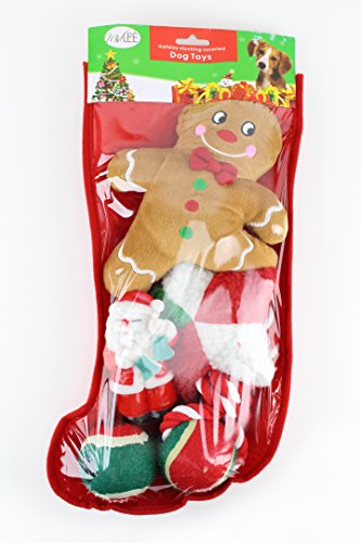 Puppy For Christmas Present - Toy Filled Christmas Dog Stocking Gift Set by Midlee