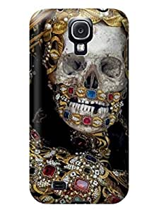 LarryToliver Cellphone Accessories samsung Galaxy s4 Case with Customizable Beautiful Skull Arts pictures Logo Background #4 wangjiang maoyi