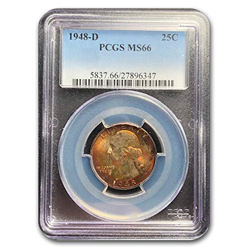 1948 D Washington Quarter MS-66 PCGS Quarter MS-66 PCGS