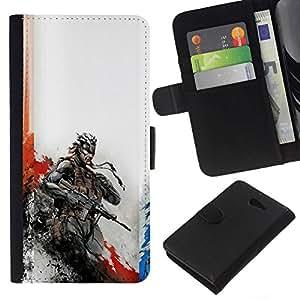 All Phone Most Case / Oferta Especial Cáscara Funda de cuero Monedero Cubierta de proteccion Caso / Wallet Case for Sony Xperia M2 // Metal Gear Soldier