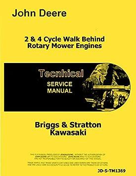 Briggs & Stratton Motor Reparación Manual John Deere Walk detrás de cortacésped TM1369