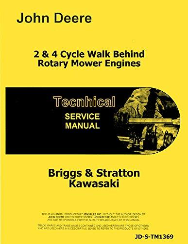 Briggs & Stratton Motor Reparación Manual John Deere Walk ...