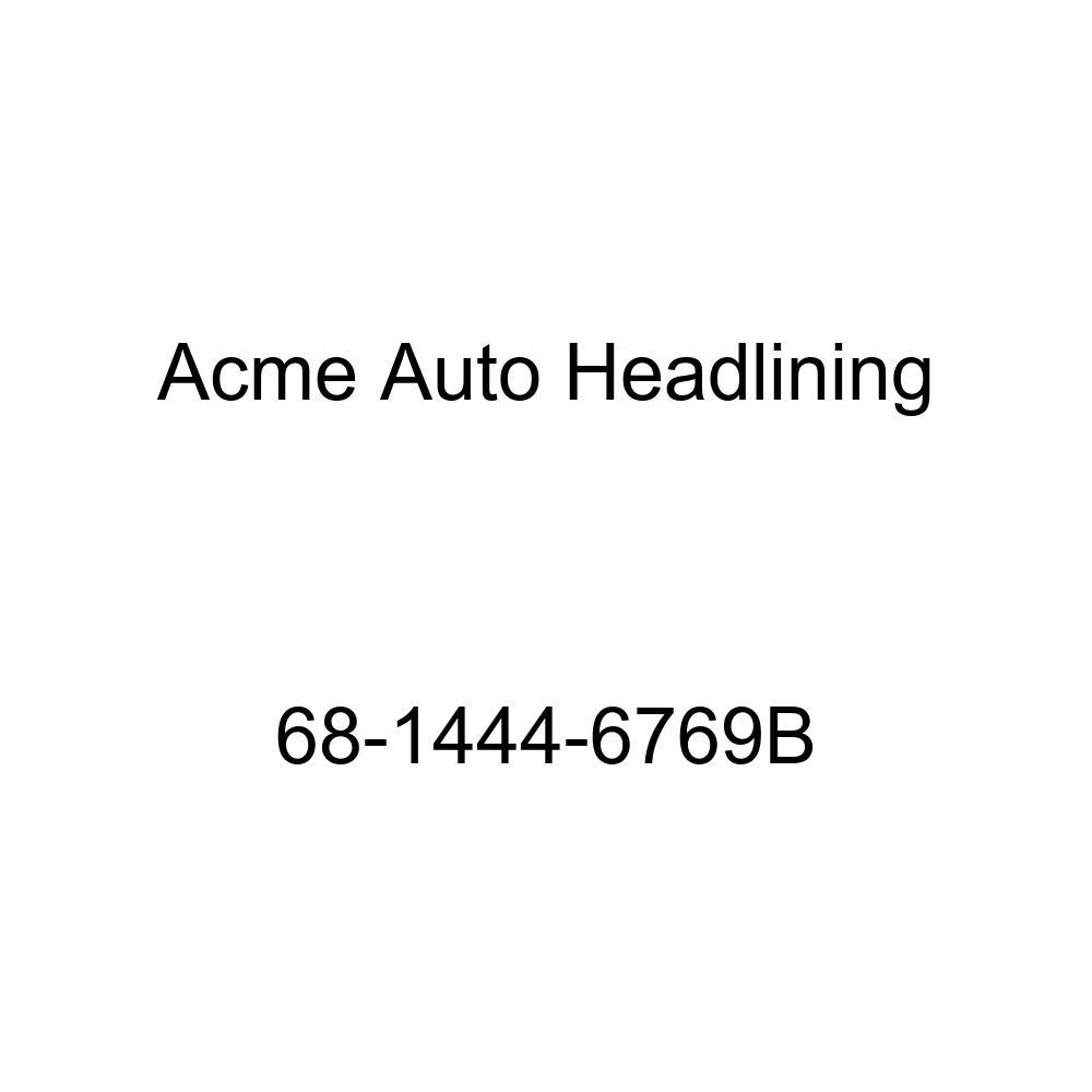 Acme Auto Headlining 68-1444-6769B Black Replacement Headliner Chevrolet Chevelle 300 Deluxe 4 Door Sedan 6 Bow